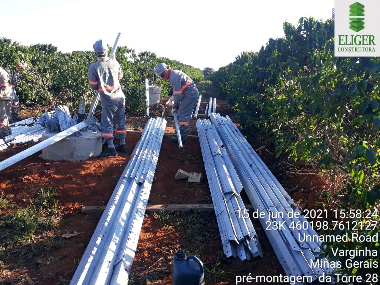 LINHA DO TEMPO DAS OBRAS EM EXECUÇÃO - ELIGER CONSTRUTORA E SERVIÇOS EIRELI - 12 DE JULHO DE 2021